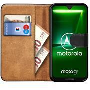 Basic Bookcase Hülle für Motorola Moto G7 Power Case klappbare Schutzhülle