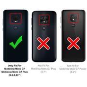 Basic Bookcase Hülle für Motorola Moto G7 / G7 Plus Case klappbare Schutzhülle