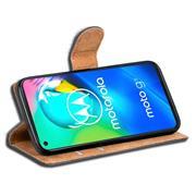 Basic Bookcase Hülle für Motorola Moto G8 Case klappbare Schutzhülle