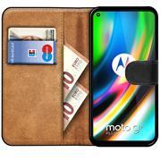 Basic Bookcase Hülle für Motorola Moto G9 Plus Case klappbare Schutzhülle
