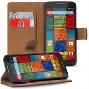 Basic Bookcase Hülle für Motorola Moto X 2. Generation Schutzhülle