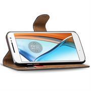 Basic Bookcase Hülle für Motorola Moto X Force Klapphülle Tasche mit Kartenfächer