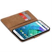 Basic Bookcase Hülle für Motorola Moto X Style Klapphülle Tasche mit Kartenfächer