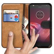 Basic Bookcase Hülle für Motorola Moto Z2 Play Plus Klapphülle Tasche mit Kartenfächern