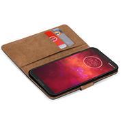 Basic Bookcase Hülle für Motorola Moto Z3 Play Case klappbare Schutzhülle