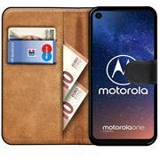 Basic Bookcase Hülle für Motorola One Vision Case klappbare Schutzhülle
