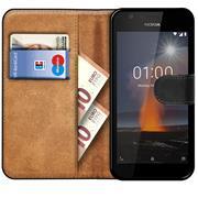 Basic Bookcase Hülle für Nokia 1 Klapphülle Tasche mit Kartenfächern