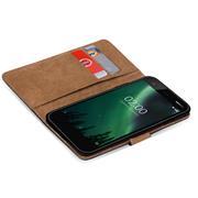 Basic Bookcase Hülle für Nokia 2 Klapphülle Tasche mit Kartenfächern