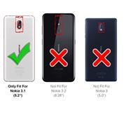 Basic Bookcase Hülle für Nokia 3.1 Case klappbare Schutzhülle