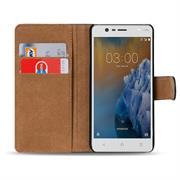 Basic Bookcase Hülle für Nokia 3 Klapphülle Tasche mit Kartenfächern