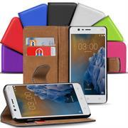 Basic Bookcase Hülle für Nokia 3 klappbare Tasche mit Kartenfächern
