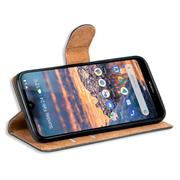 Basic Bookcase Hülle für Nokia 4.2 klappbare Schutzhülle