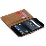 Basic Bookcase Hülle für Nokia 5.1 klappbare Tasche mit Kartenfächern