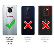 Basic Bookcase Hülle für Nokia 7.2 6.2 Case klappbare Schutzhülle