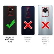 Basic Bookcase Hülle für Nokia 7 Plus Case klappbare Schutzhülle