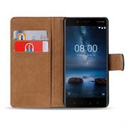 Basic Bookcase Hülle für Nokia 8 Klapphülle Tasche mit Kartenfächern
