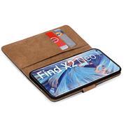 Basic Handyhülle für OPPO Find X2 Neo Hülle Book Case klappbare Schutzhülle
