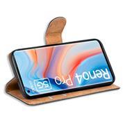 Basic Handyhülle für OPPO Reno 4 Pro Hülle Book Case klappbare Schutzhülle