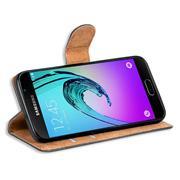 Basic Bookcase Hülle für Samsung Galaxy A3 2016 Edition Klapphülle Tasche mit Kartenfächer