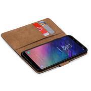Basic Bookcase Hülle für Samsung Galaxy A6+ 2018 Case klappbare Schutzhülle