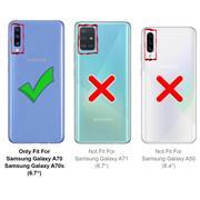 Basic Bookcase Hülle für Samsung Galaxy A70 Case klappbare Schutzhülle