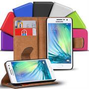 Basic Bookcase Hülle für Samsung Galaxy A7 Klapphülle Tasche mit Kartenfächer