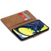 Basic Bookcase Hülle für Samsung Galaxy A80 Case klappbare Schutzhülle