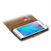 Basic Bookcase Hülle für Samsung Galaxy J1 Klapphülle Tasche mit Kartenfächer