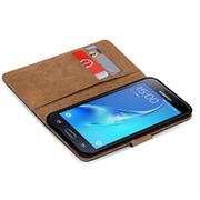 Basic Bookcase Hülle für Samsung Galaxy J3 (2016) Duos Schutzhülle