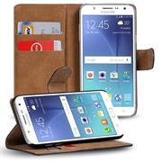 Basic Bookcase Hülle für Samsung Galaxy J5 Klapphülle Tasche mit Kartenfächer