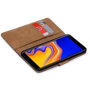 Basic Bookcase Hülle für Samsung Galaxy J6 Plus Case klappbare Schutzhülle