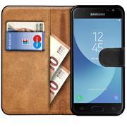 Basic Bookcase Hülle für Samsung Galaxy J7 2017 (J730) Klapphülle Tasche mit Kartenfächern