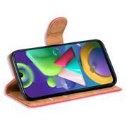 Basic Bookcase Hülle für Samsung Galaxy M30s Case klappbare Schutzhülle