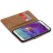Basic Bookcase Hülle für Samsung Galaxy Note 4 Klapphülle Tasche mit Kartenfächer in Blau