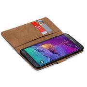 Basic Bookcase Hülle für Samsung Galaxy Note 4 Case klappbare Schutzhülle