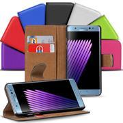 Basic Bookcase Hülle für Samsung Galaxy Note 7 Klapphülle Tasche mit Kartenfächer