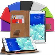Basic Bookcase Hülle für Samsung Galaxy Note Edge Klapphülle Tasche mit Kartenfächer