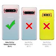 Basic Bookcase Hülle für Samsung Galaxy S10 Plus Case klappbare Schutzhülle