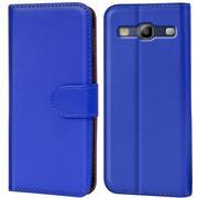 Basic Bookcase Hülle für Samsung Galaxy S3 / S3 Neo Klapphülle Tasche mit Kartenfächer in Blau
