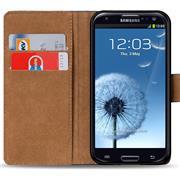 Basic Bookcase Hülle für Samsung Galaxy S3 / S3 Neo Klapphülle Tasche mit Kartenfächer