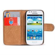 Basic Bookcase Hülle für Samsung Galaxy S3 Mini Klapphülle Tasche mit Kartenfächer