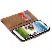 Basic Bookcase Hülle für Samsung Galaxy S4 Klapphülle Tasche mit Kartenfächer