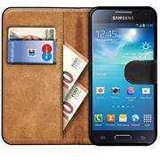 Basic Bookcase Hülle für Samsung Galaxy S4 Mini Case klappbare Schutzhülle