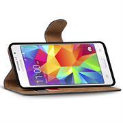 Basic Bookcase Hülle für Samsung Galaxy S5 Mini Klapphülle Tasche mit Kartenfächer in Blau