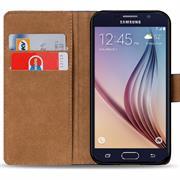 Basic Bookcase Hülle für Samsung Galaxy S6 Edge Plus Klapphülle Tasche mit Kartenfächer