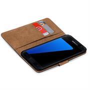 Basic Bookcase Hülle für Samsung Galaxy S7 Edge Klapphülle Tasche mit Kartenfächer