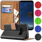 Basic Bookcase Hülle für Samsung Galaxy S8 Klapphülle Tasche mit Kartenfächern
