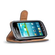 Basic Bookcase Hülle für Samsung Galaxy Xcover 2 Klapphülle Tasche mit Kartenfächer