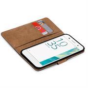 Basic Bookcase Hülle für Sony Xperia E5 Klapphülle Tasche mit Kartenfächer