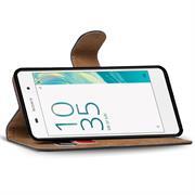 Basic Bookcase Hülle für Sony Xperia X Klapphülle Tasche mit Kartenfächer